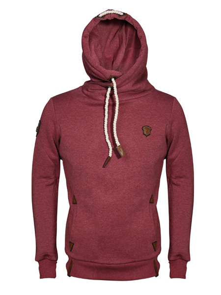 fleece hoodie with pockets at side
