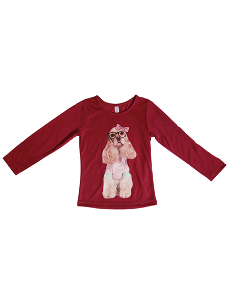 Long sleeve T-shirt with applique