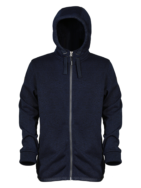 fleece hoody jacket with pockets at side