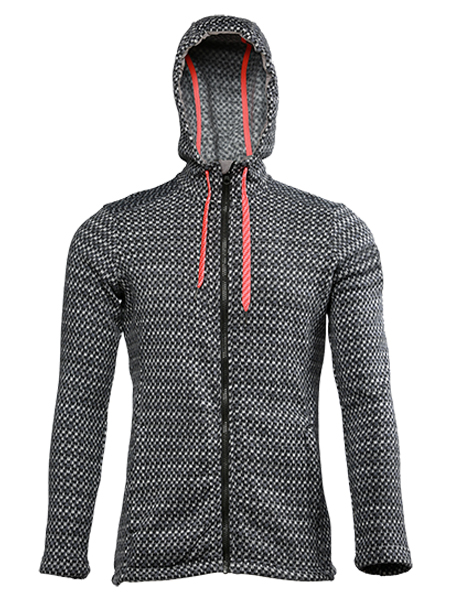 men's fleece jacket with hood